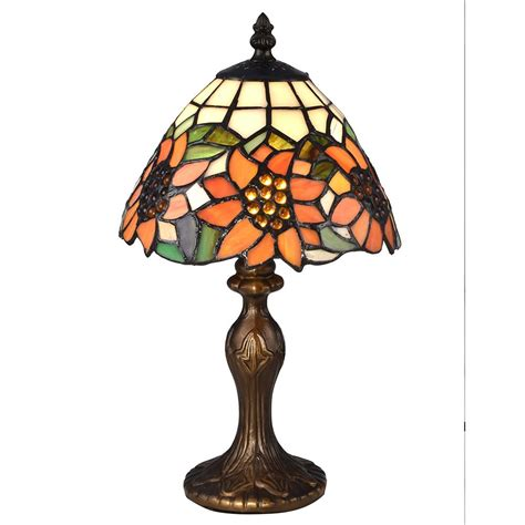 tiffany glass l shades springdale lighting 14 in discovery antique bronze table