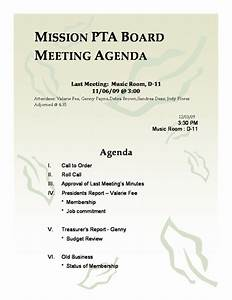 Outlook 2010 Templates Download Pta Meeting Agenda Template Free Agenda Templates Ms