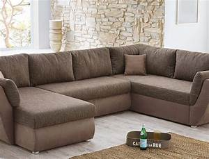 Sofa In U Form : wohnlandschaft couchgarnitur xxl sofa u form braun cappuccino ottomane rechts smash ~ Markanthonyermac.com Haus und Dekorationen