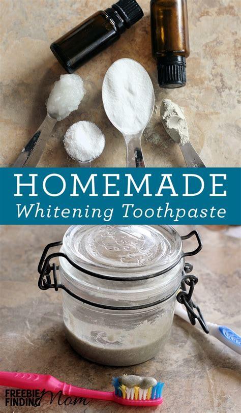 diy teeth whitening baking soda toothpaste recipe