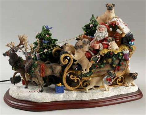 pug christmas tree danbury mint figurines at replacements ltd