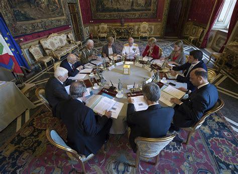 Segretariato Generale Della Presidenza Consiglio Dei Ministri by Riunione Consiglio Supremo Di Difesa Bene Linee Guida