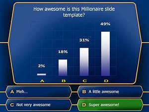 millionaire With who want to be a millionaire game template