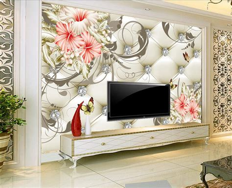 Home Decor 3d : Custom 3d Photo Wallpaper Lily Background Wall Painting