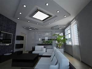 Spot Plafond Salon : eclairage pour le salon id es sympas 27 photos fantastiques ~ Edinachiropracticcenter.com Idées de Décoration