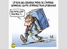 Depardieu quitte le France pour la Belgique Mes dessins