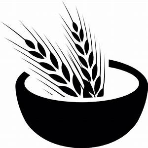 Wheat grains on a bowl Icons | Free Download