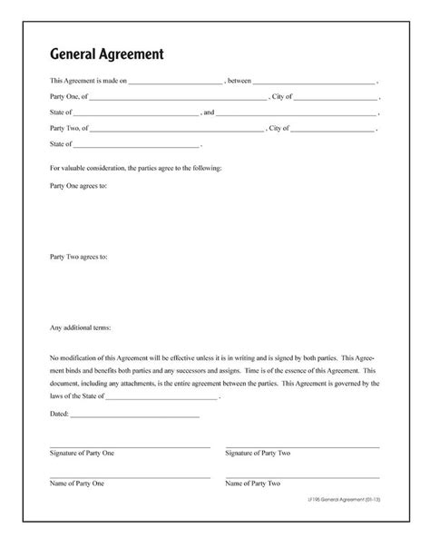adams general agreement forms  instructions