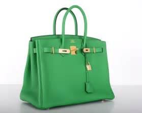 hermes designer new color hermes birkin bag 35cm bambou green gold hardware at 1stdibs
