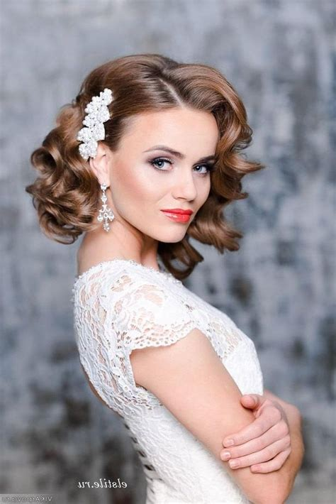 15 collection of bridal hairstyles short hair