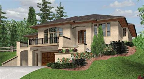 Split-level Contemporary House Plan