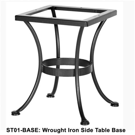 ow standard wrought iron side table base st01 base