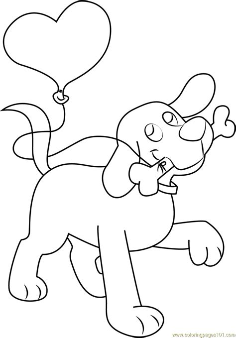 clifford  bone  balloon coloring page