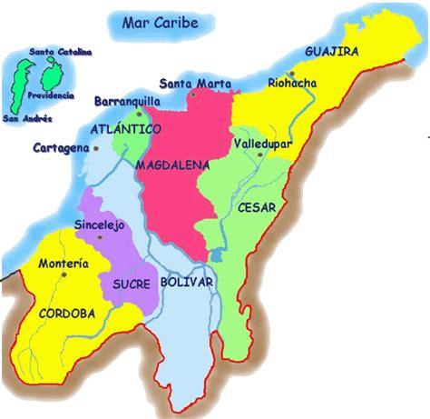 region insular de colombia mapa