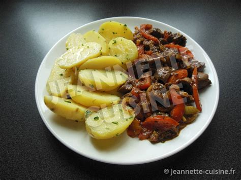 poire de terre cuisine rognons aux pommes de terre plat jeannette cuisine