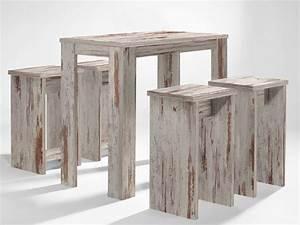 Bartisch Set Günstig : bartisch set 5 teilig 1 tisch 4 hocker eiche antik sale ~ Markanthonyermac.com Haus und Dekorationen