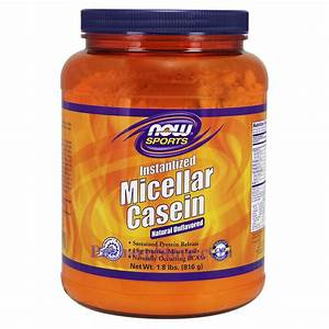 Now Foods Instantized Micellar Casein Powder Natural Unflavored 1 8 Lbs