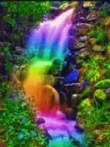 Animated Waterfalls Colorful