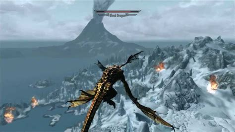 Skyrim Dragonborn Dragon Riding Dragon Vs Dragon Youtube