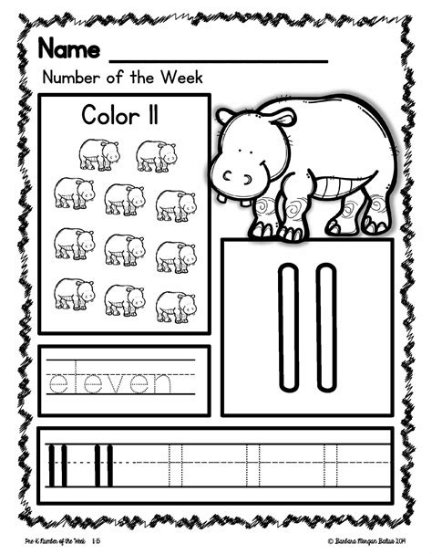 Awesome Number 11 Worksheets For Preschool  Fun Worksheet