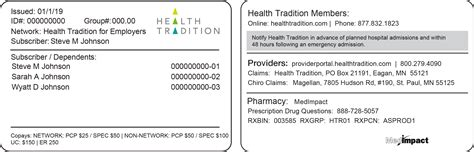 On my insurance card the only number i see is just one big thing with 3 letters then a bunch of numbers (it resembles abc68484023 00 q) the only other number on my card is a the group #er identify's your employer group. Your ID card - Health Tradition Health Plan
