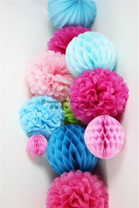 Pinkblue 11pc Paper Decoration Set Paper Craftspleated