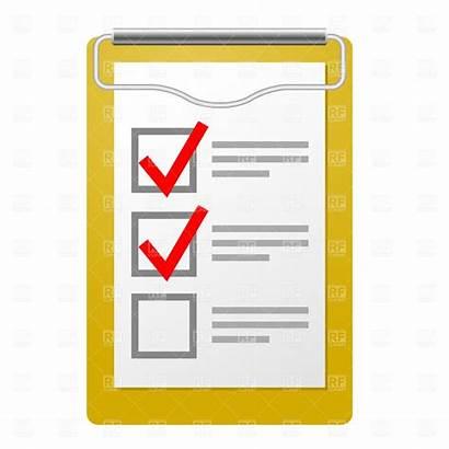 Checklist Clipart Check Clip Clipboard Cliparts Checklists