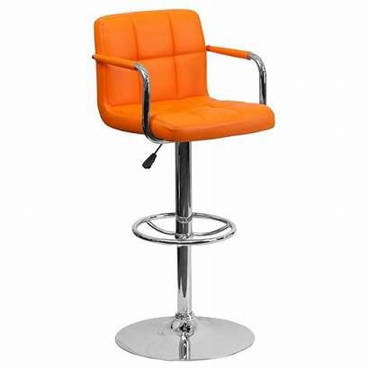 Bar Adjustable Height Stool Orange Furniture Flash