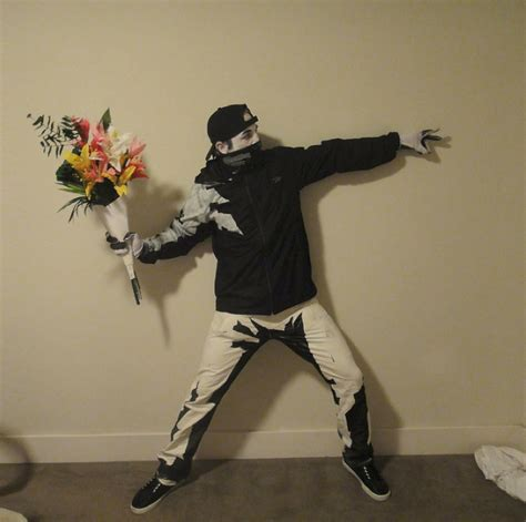 best costumes if it s hip it s here archives the best halloween costume ever banksy s flower thrower