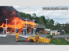 In Pictures Ontario Esso gas station on fire CTV News