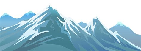 mountain clipart landscape clipart snowy mountain pencil and in color