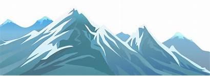 Mountain Clipart Transparent Banner Winter Clip Snowy