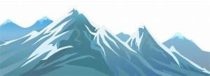Landscape clipart snowy mountain - Pencil and in color ...