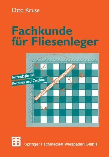Preise Für Fliesenleger by Fachkunde F 252 R Fliesenleger Vieweg Teubner Verlag