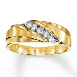 mens 10k gold wedding bands 39 s wedding band 1 4 ct tw diamonds 10k yellow gold