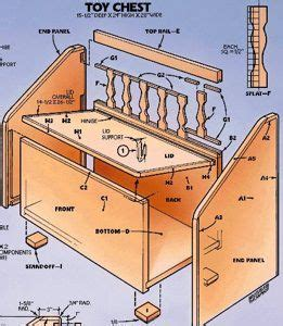 wooden toy box bench plans diy blueprints toy box bench