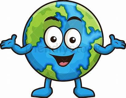 Earth Cartoon Clipart Friendlystock Happy Clip Welcoming