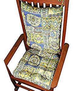 amazon com porch rocker cushion set zerego blue extra
