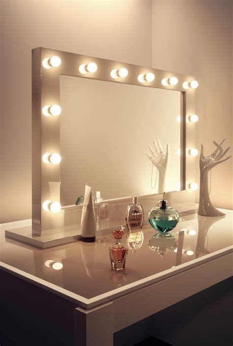 makeup mirror with lights high gloss white up theatre dressing room
