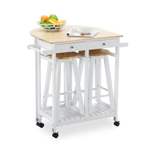 kitchen island dining set kitchen island rolling trolley cart storage dinning table