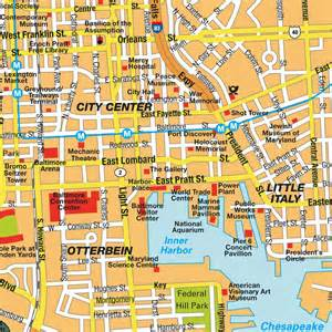 Baltimore Maryland City Map