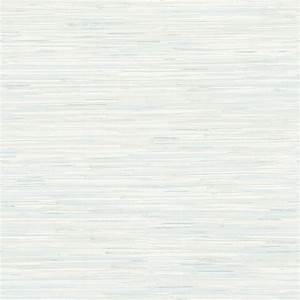 Brewster Natalie Light Blue Faux Grasscloth Wallpaper ...