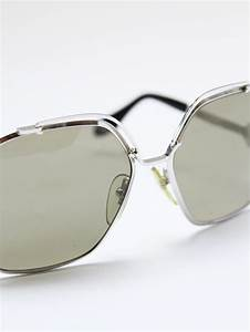 Monture Lunette Grande Taille : louise paris vintage lunettes des ann es 70 monture argent et verres fum s verts ~ Farleysfitness.com Idées de Décoration