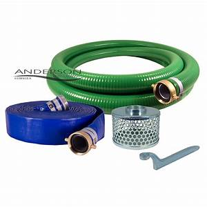 2 U0026quot  Pvc Water Suction And Water Discharge Hose Kit
