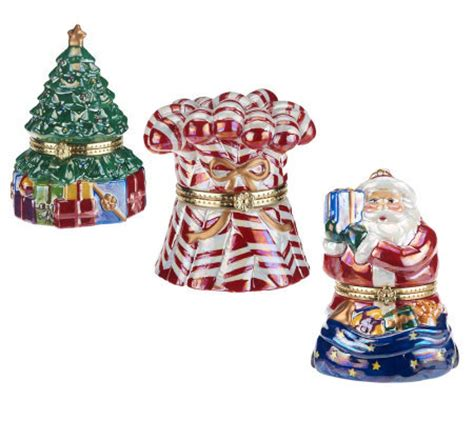 mr christmas set of 3 host choice musical ornaments