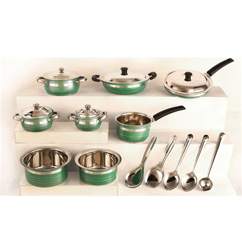 cookware colored pcs queen kitchen