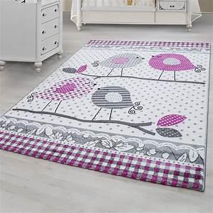 Tapis Gris Rose : tapis pour chambre bebe fille lila rose et gris ~ Teatrodelosmanantiales.com Idées de Décoration