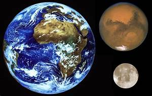 Space in Images - 2004 - 08 - Earth compared in size to ...