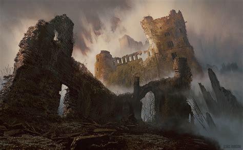 artstation ruined castle george johnstone