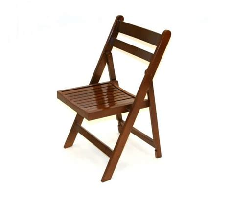 brown wooden folding chair hire weddings